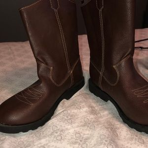 Faded glory brown boots size 3 brand new no tags